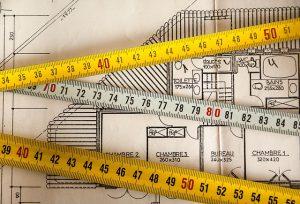 Plan mit Metermaß